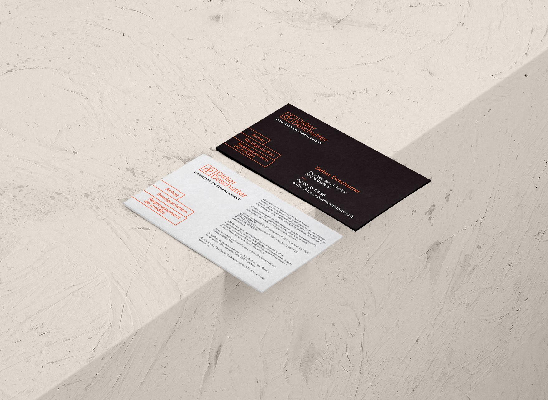 Identité et carte de visite Didier Deschutter - Courtier en financement
