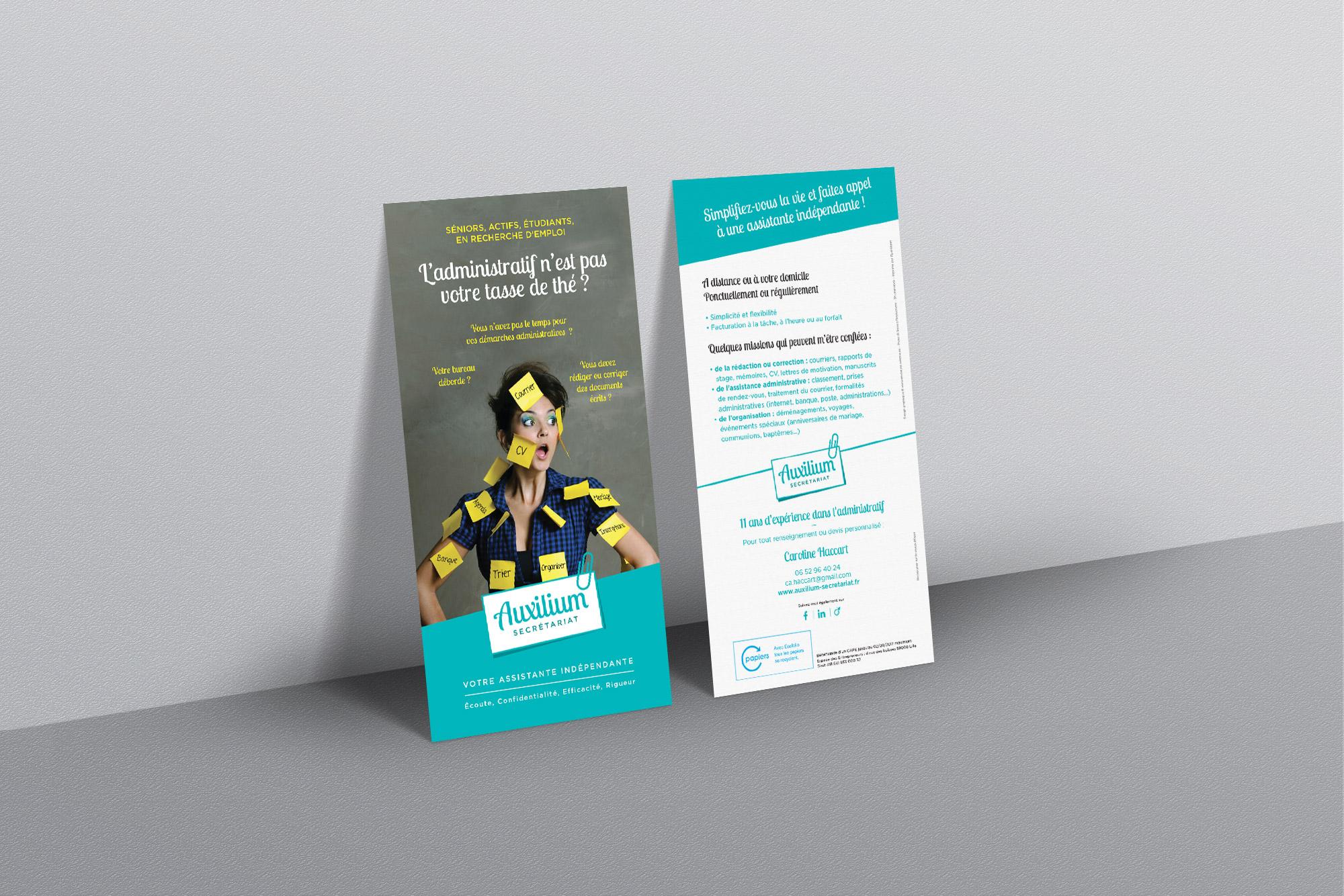 Flyer Auxilium Secrétariat pour les particuliers