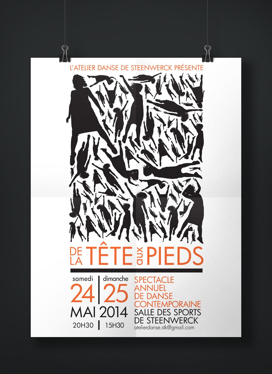 Atelier de Danse Contemporaine de Steenwerck - Affiche édition 2014