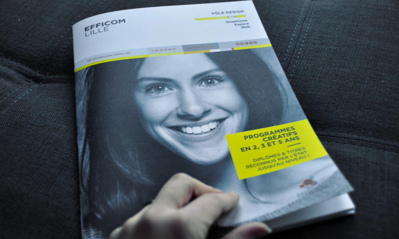 Brochure présentant l'ensemble des formations du Pôle Design EFFICOM Lille