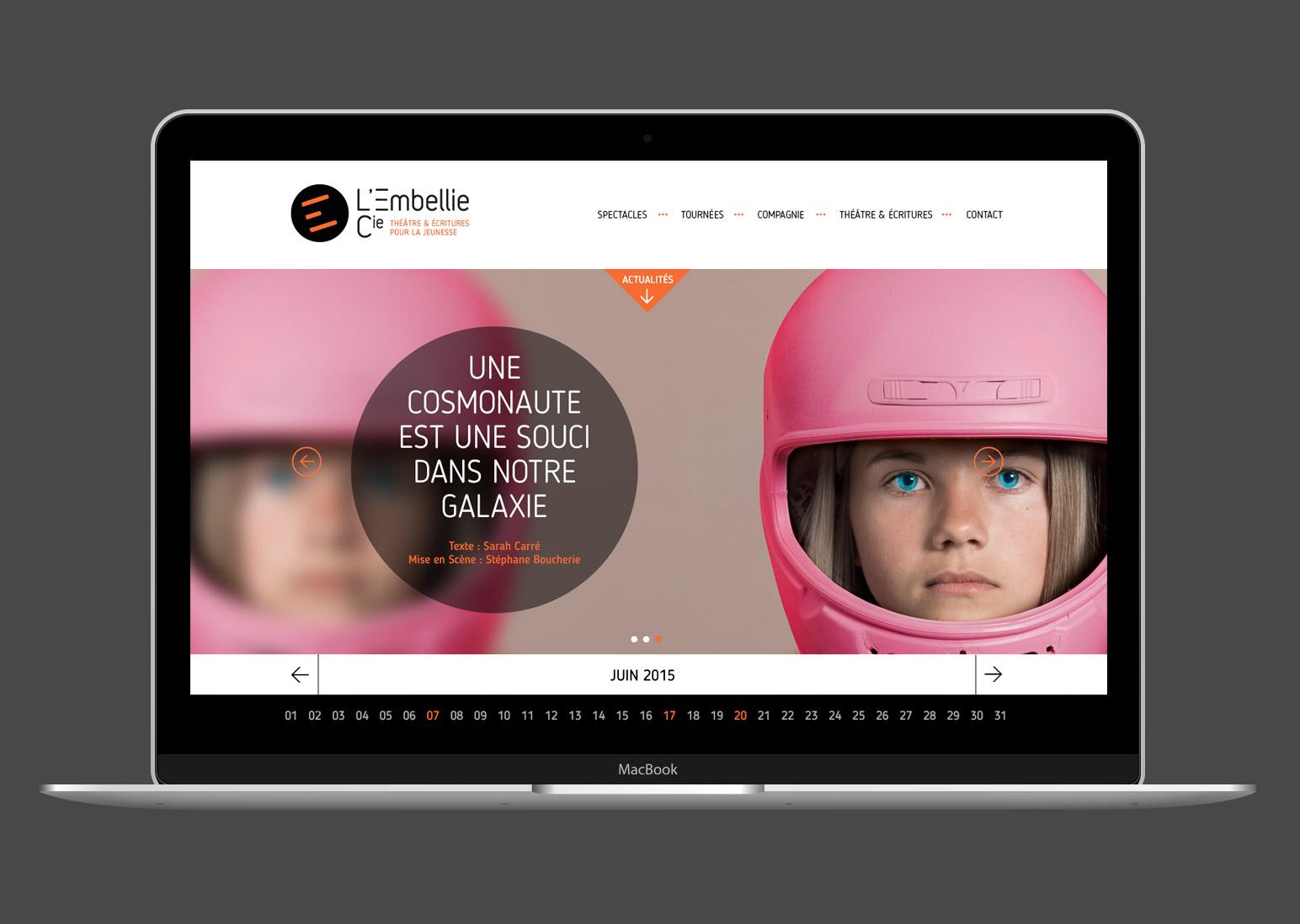 Home page de L'embellie Cie