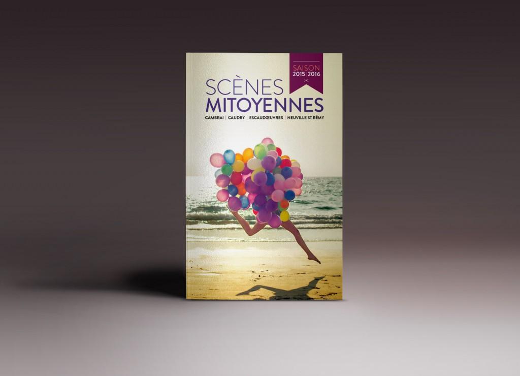 Couverture de la brochure 2015/2016 des Scènes Mitoyennes