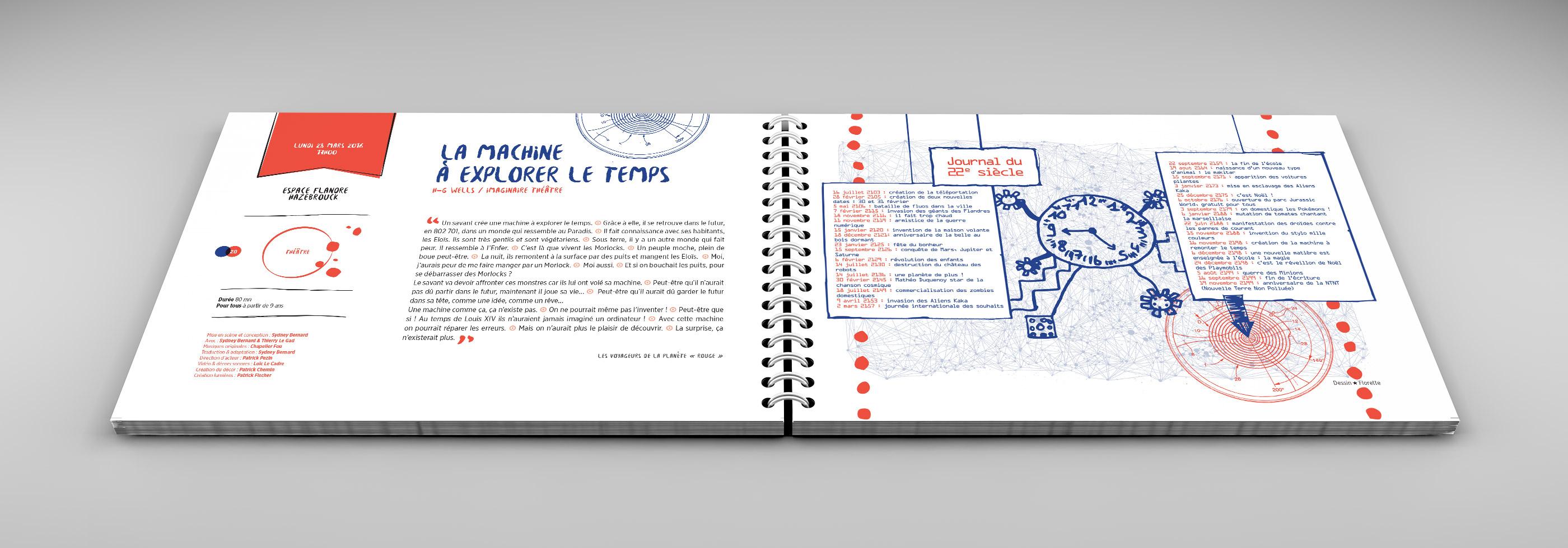 Design graphique du Festival Le P'tit Monde 2016 - Centre André Malraux Hazebrouck