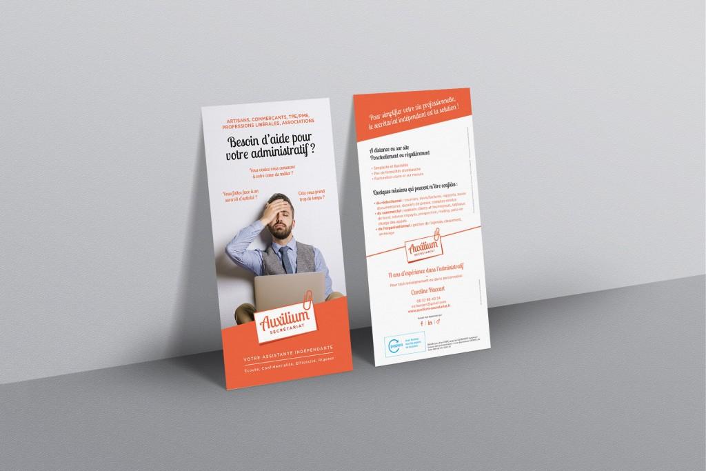 Flyer Auxilium Secrétariat pour les professionnels
